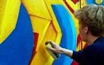 Graffitimaalausta The Main Ingredient, part III –tapahtumassa Lounaispuistossa vuonna 2002. Kuvaaja tuntematon