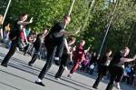 Jigotain taiji-näytös Alvarin aukiolla vuonna 2007. Kuva: Karoliina Veijo